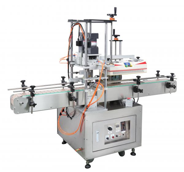 Full Automatic Side-wrap Capping Machine and Induction Aluminum Foil Sealing Machine Turnkey Packaging Line
